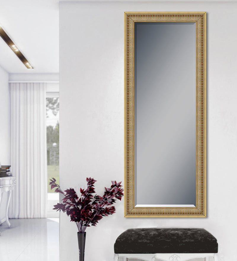 Buy Brown Wood Saint Gobain Glass Mirror By Elegant Arts And