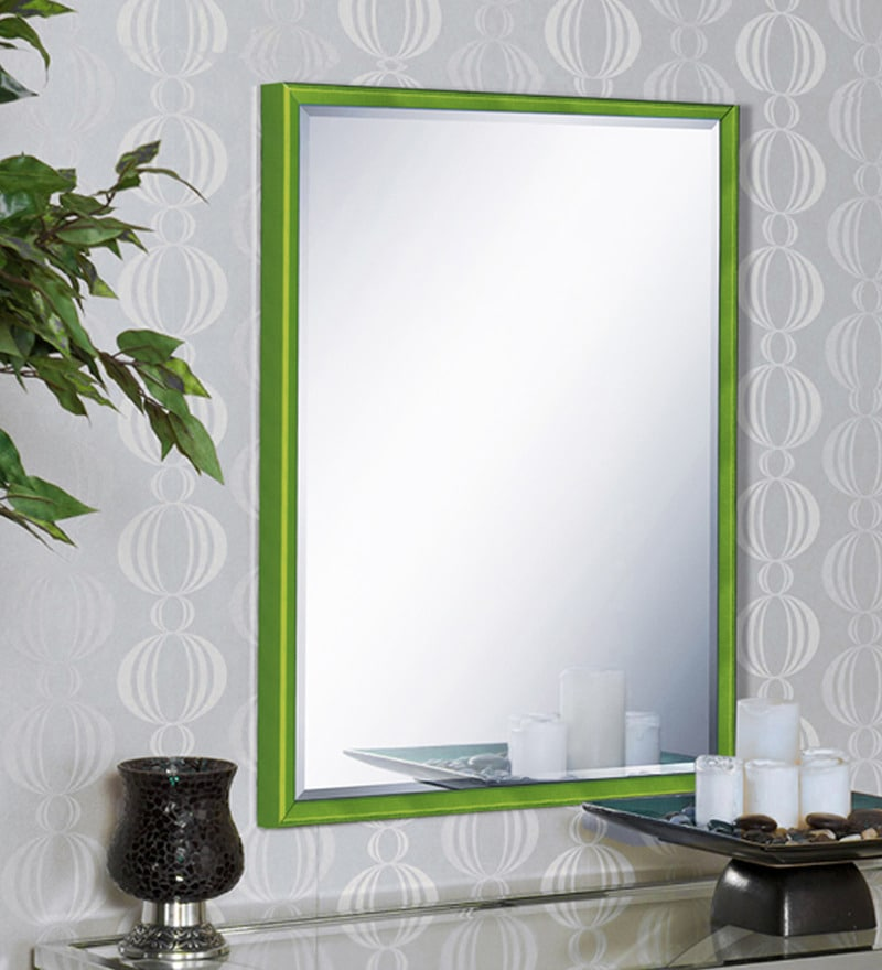 Marisa Minimalist Mirrors in Green by CasaCraft