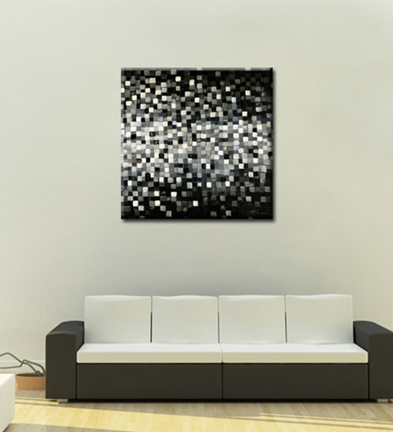 Canvas 27.6 x 27.6 Inch Illustration by Anand Channar Framed Painting by Elegant Arts and Frames
