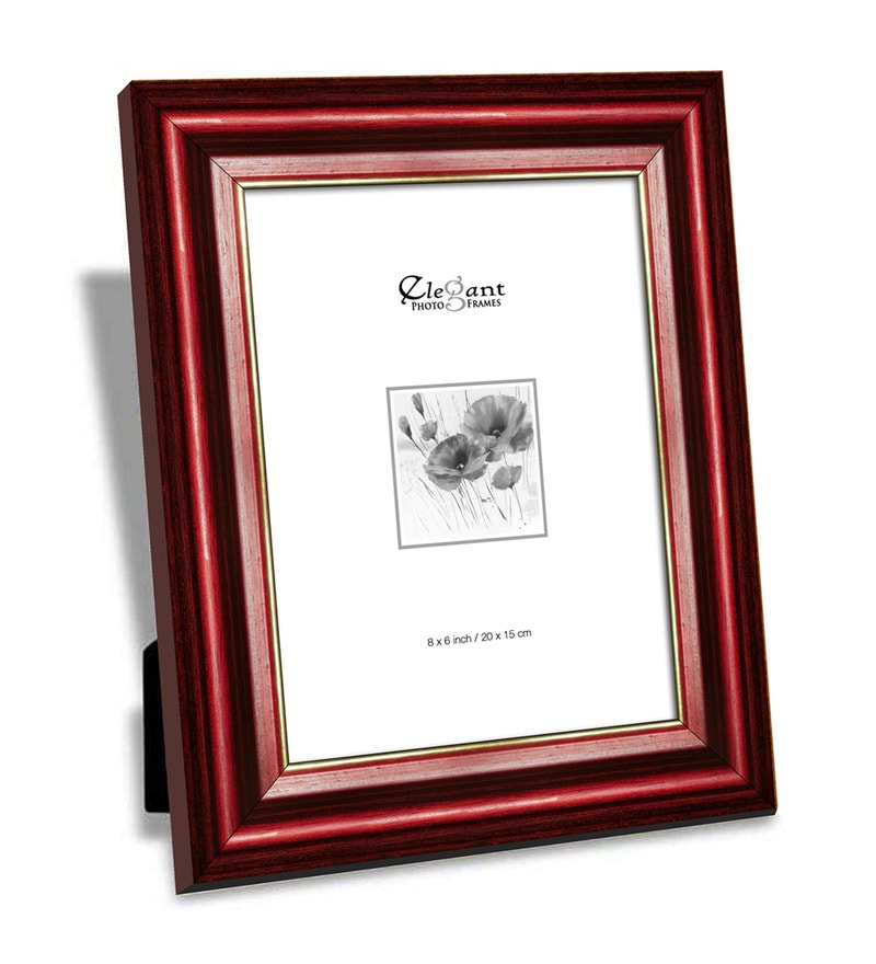Red Wooden Single Photo Frame by Elegant Arts and Frames