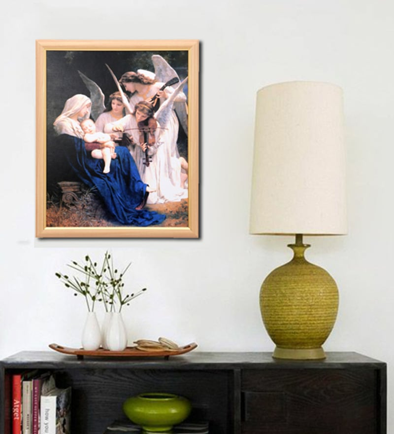 Canvas 18.5 x 22.5 Inch Songs of the Angels Framed Digital Art Print by Elegant Arts and Frames