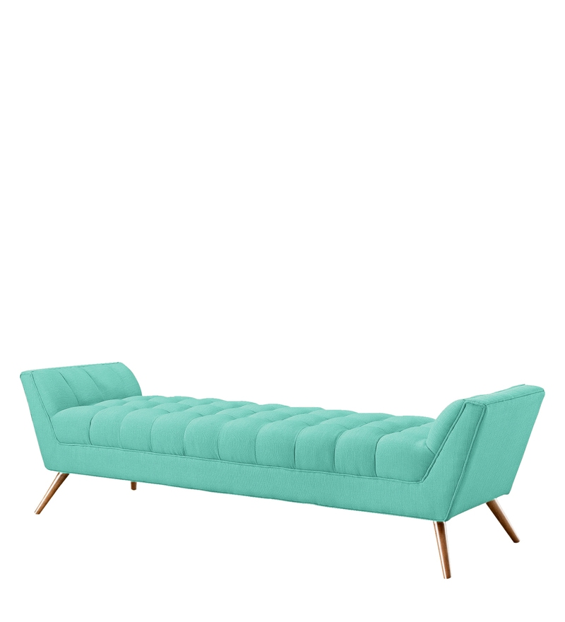 Buy Settees Online: Buy Elenora Button Tufted Settee In Mint Green Colour By