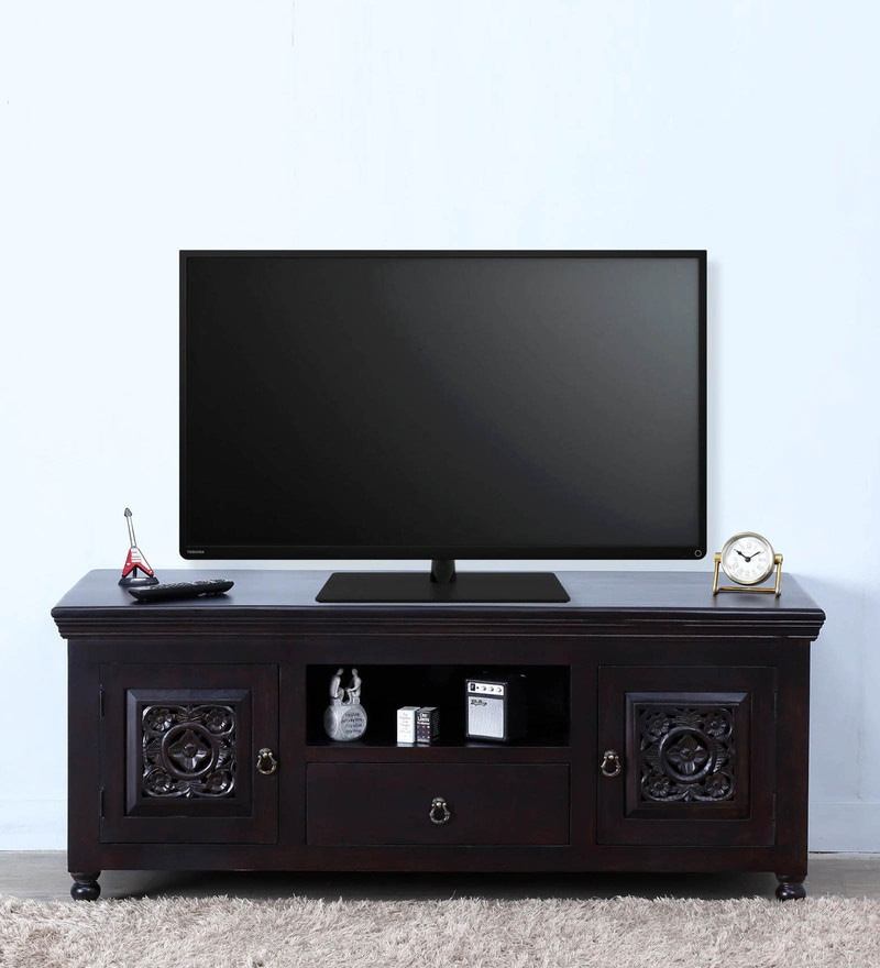 Ellenborough Entertainment Unit in Warm Chestnut Finish by Amberville