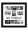 Black Synthetic 26 x 1 x 27 Inch My Family Collage Photo Frame by Elegant Arts and Frames