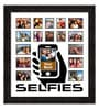 Black Synthetic 26 x 1 x 28 Inch Selfies Pattern 3 Collage Photo Frame by Elegant Arts and Frames