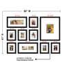 Black Synthetic 60 x 1 x 41 Inch Group 10-C Wall Collage Photo Frame by Elegant Arts and Frames