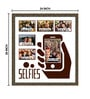 Elegant Arts and Frames Black Wooden 24 x 1 x 26 Inch Selfies Collage Photo Frame