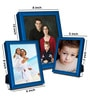 Elegant Arts And Frames Blue Metal Photo Frame - Set of 3