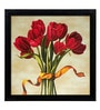 Elegant Arts and Frames Paper 22.5 x 22.5 Inch Bouquet Rubino Framed Digital Art Print