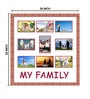 Brown Wooden 24 x 1 x 25 Inch My Family Collage Photo Frame by Elegant Arts and Frames