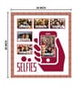 Elegant Arts and Frames Brown Wooden 24 x 1 x 26 Inch Selfies Collage Photo Frame