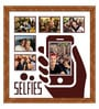 Elegant Arts and Frames Brown Wooden 26 x 1 x 28 Inch Selfies Pattern 1 Collage Photo Frame