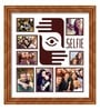 Brown Wooden 26 x 1 x 28 Inch Selfies Pattern 2 Collage Photo Frame by Elegant Arts and Frames