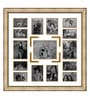 Gold Wooden 34 x 1 x 34 Inch 15 Pocket Ornamental Family Collage Photo Frame by Elegant Arts and Frames