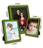Elegant Arts And Frames Green Metal Photo Frame - Set of 3