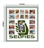 Elegant Arts and Frames Green Wooden 24 x 1 x 26 Inch Selfies Collage Photo Frame