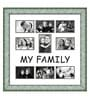 Elegant Arts and Frames Green Wooden 26 x 1 x 27 Inch My Family Collage Photo Frame