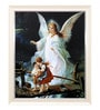 Elegant Arts and Frames Canvas 18.5 x 22.5 Inch Guardian Angel Framed Digital Art Print