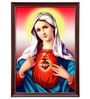 Elegant Arts and Frames Canvas 22.5 x 30.5 Inch Immaculate Heart of Mary Framed Art Print