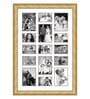 Oak Wooden 28 x 1 x 40 Inch 15 Pocket Family Collage Photo Frame by Elegant Arts and Frames