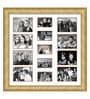 Oak Wooden 34 x 1 x 34 Inch 13 Pocket Family Collage Photo Frame by Elegant Arts and Frames