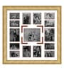 Oak Wooden 34 x 1 x 34 Inch 15 Pocket Family Collage Photo Frame by Elegant Arts and Frames