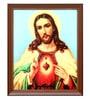 Elegant Arts and Frames Canvas 18.5 x 22.5 Inch Sacred Heart Framed Art Print