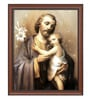 Elegant Arts and Frames Canvas 18.5 x 22.5 Inch St. Joseph Framed Digital Art Print