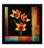 Elegant Arts and Frames Paper 22.5 x 22.5 Inch Yellow Orchids Framed Art Print