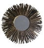 Eleganze Decor Brown Wooden Driftwood Round Mirror