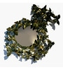 Green Metal Butterfly Mirror by Eleganze Decor