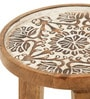 Elgin End Table in Rustic Finish by The ArmChair