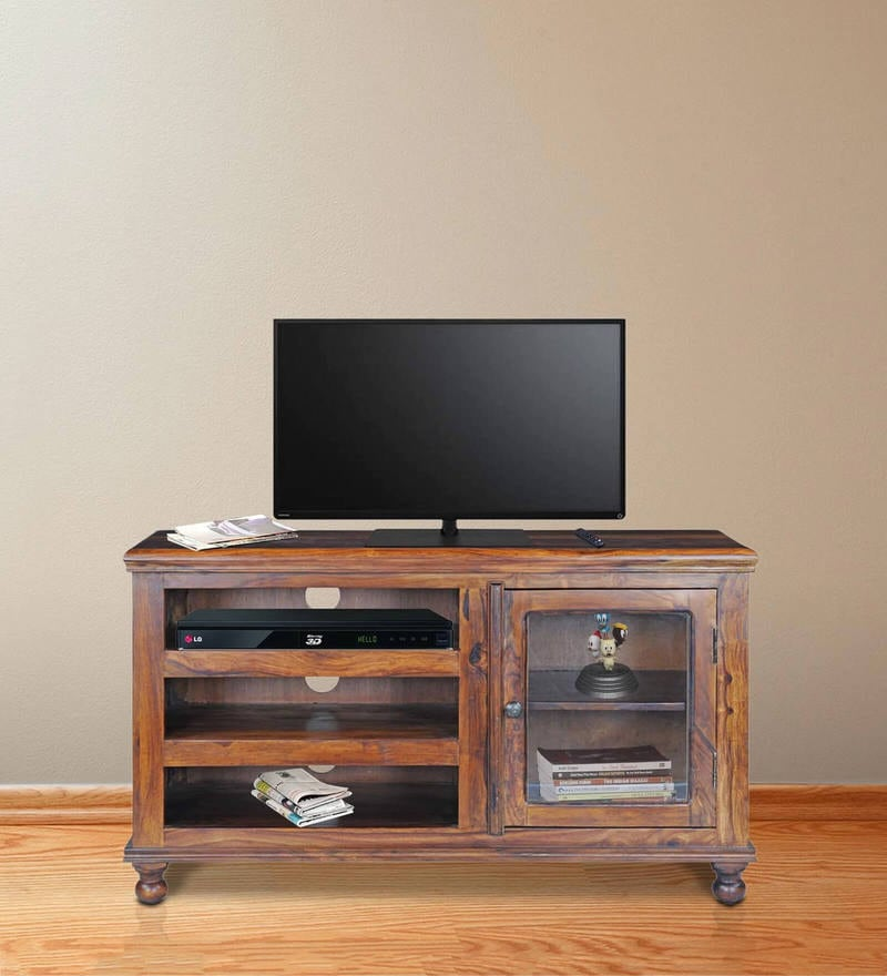 Emerald Entertainment Unit in Honey Natural Finish By Royal Oak