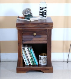 Bedside tables buy bedside tables online in india at best prices carleson solid wood bedside table in provincial teak finish watchthetrailerfo