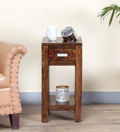 Oriel End Table In Provincial Teak Finish