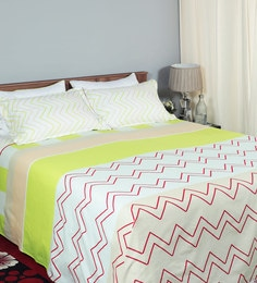 Enliven Floral 144 TC Combed Cotton King Bedsheet With 2 Pillow Cover ...