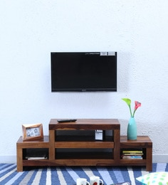 Acropolis Entertainment Unit In Provincial Teak Finish - 1598741