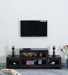Acropolis Entertainment Unit In Warm Chestnut Finish