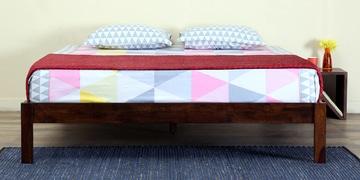 Enkel Solidwood Queen Bed In Provincial Teak Finish