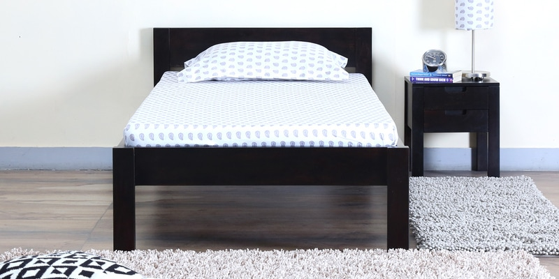 Enkel Single Bed in Warm Chestnut Finish by Woodsworth