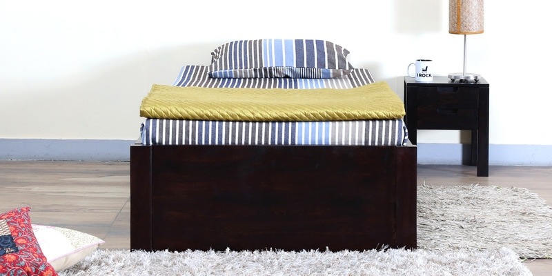 Enkel Single Bed with Storage in Warm Chestnut Finish by Woodsworth