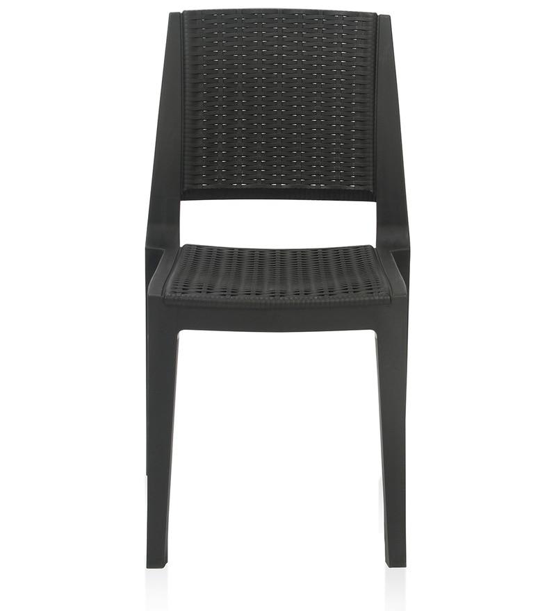 Buy Enamora Plastic Chair in Iron Black Colour by Nilkamal Online