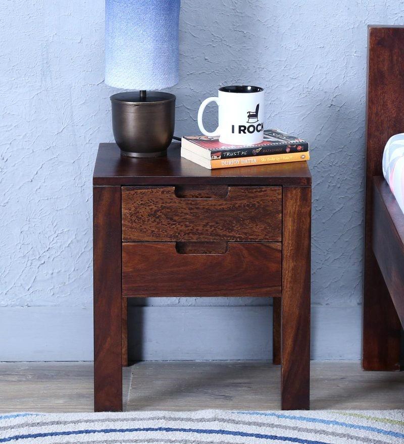 Enkel Bed Side Table in Provincial Teak Finish by Woodsworth