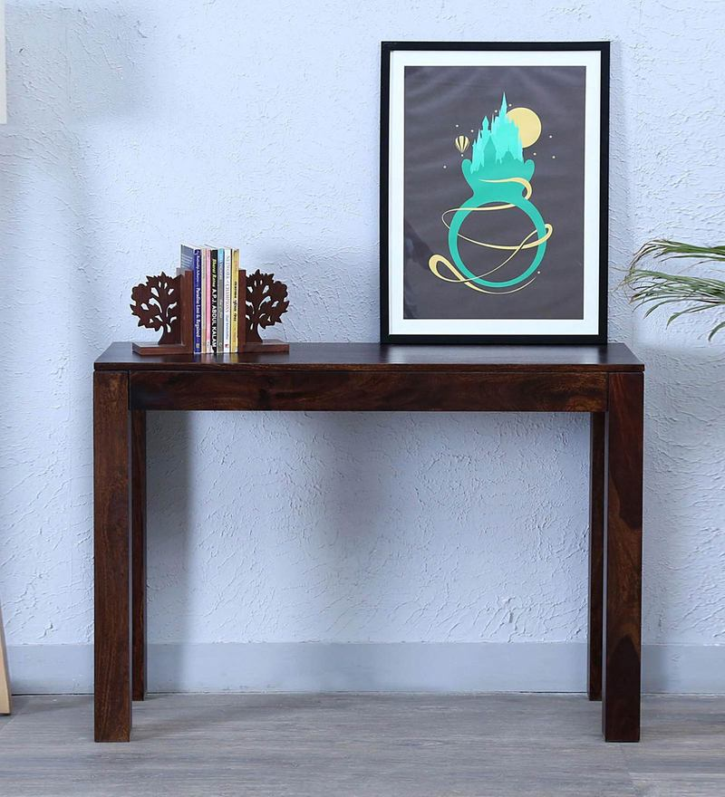 Enkel Console Table in Provincial Teak Finish by Woodsworth