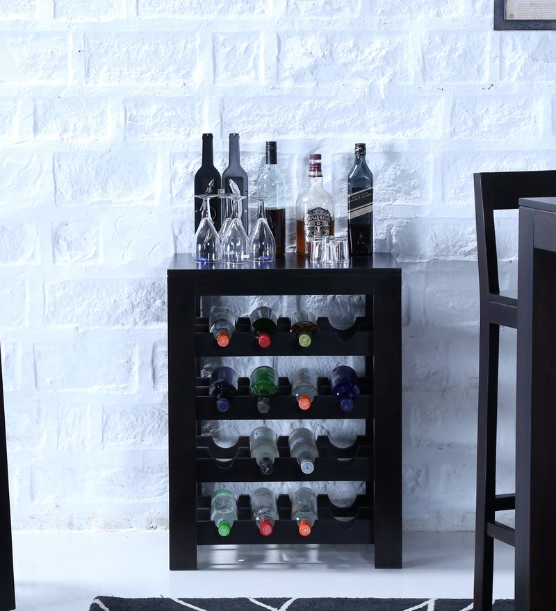 Enkel Wine Rack in Warm Chestnut Finish by Woodsworth