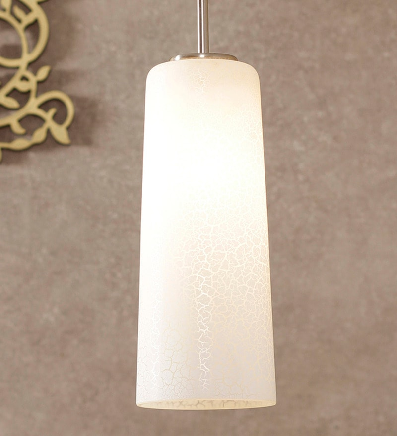 Enome Texture White Metal Pendant Lamp by Jainsons Emporio