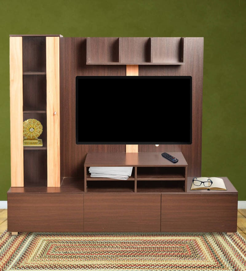 Buy Mathew Entertainment Unit with Two Drawers & Six Shelves in ...