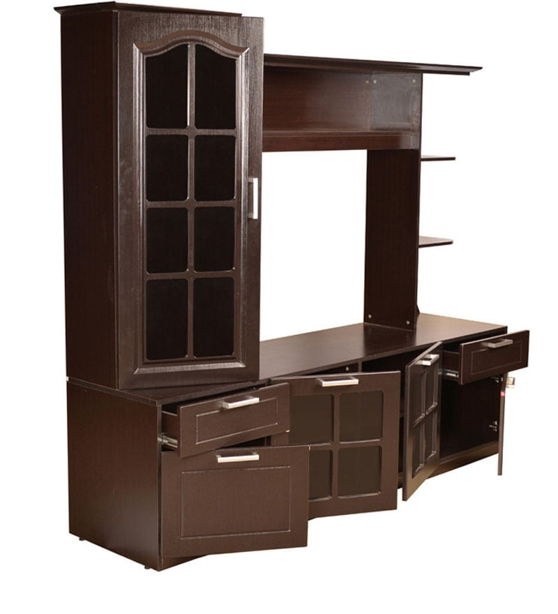 Buy Entertainment Unit in Wenge Finish by HomeTown Online - Modern