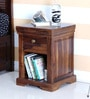 Carleson End Table in Provincial Teak Finish by Amberville