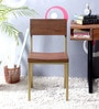 Endako Dining Chair in Rustic Brown Finish by Bohemiana